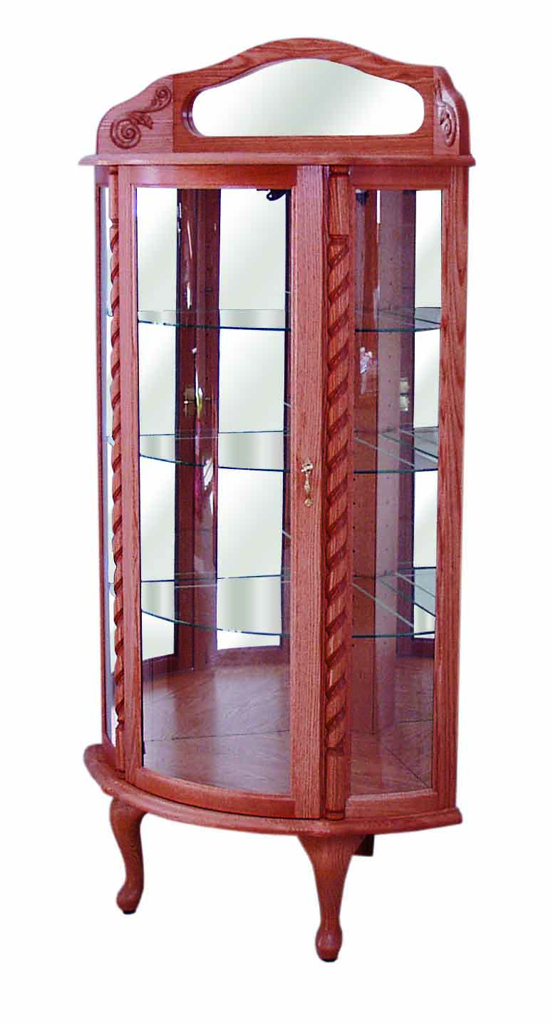 Curved Glass Corner Curio 450 Everything Amish