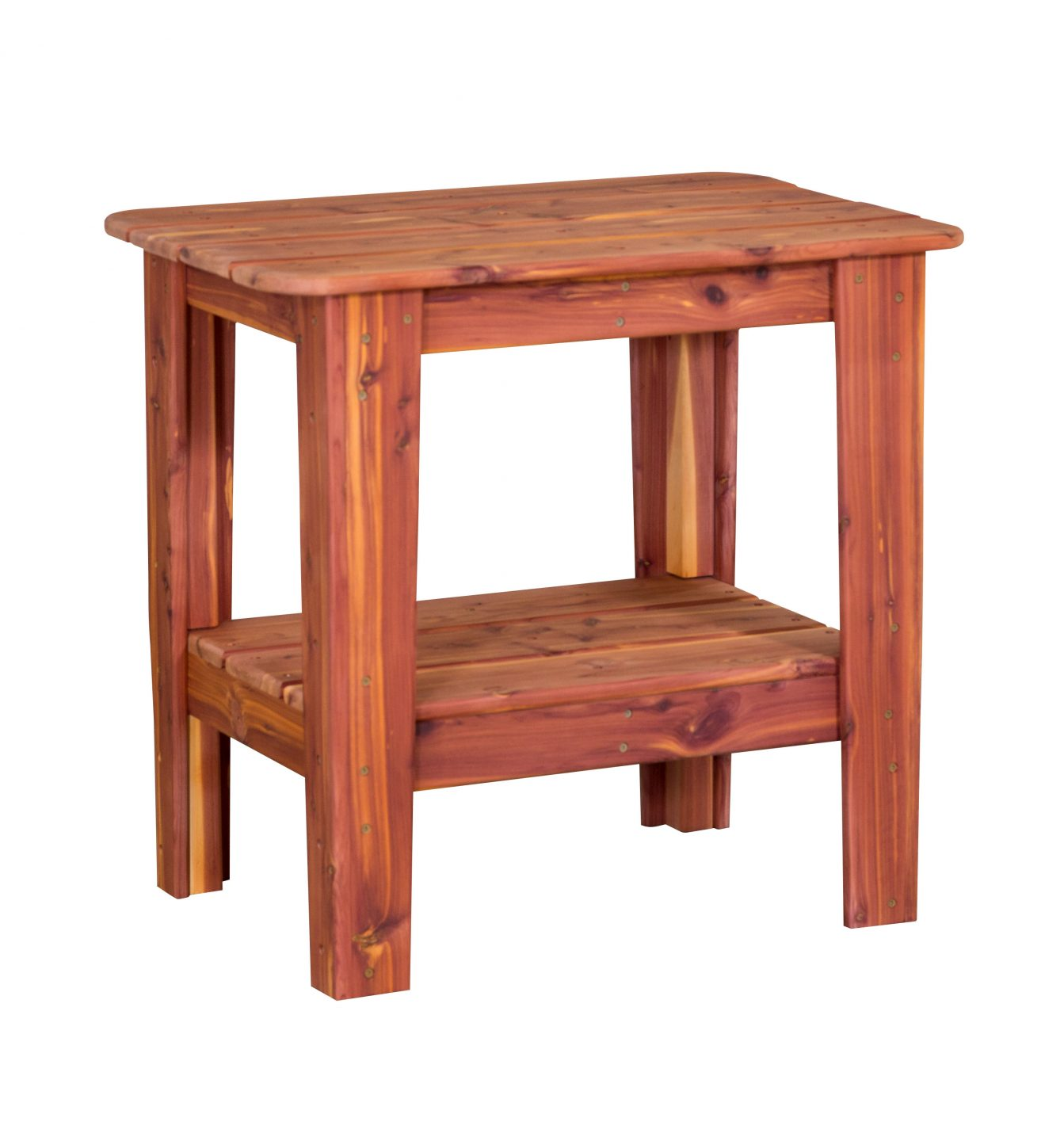 Cedar outdoor occasional table outdoor furniture