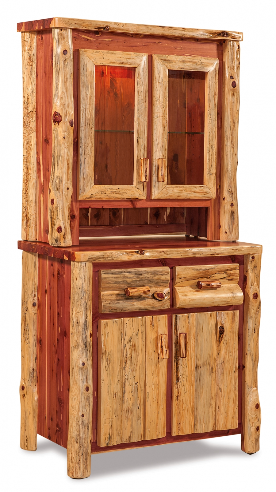 Red Cedar Small Kitchen Hutch — Everything Amish