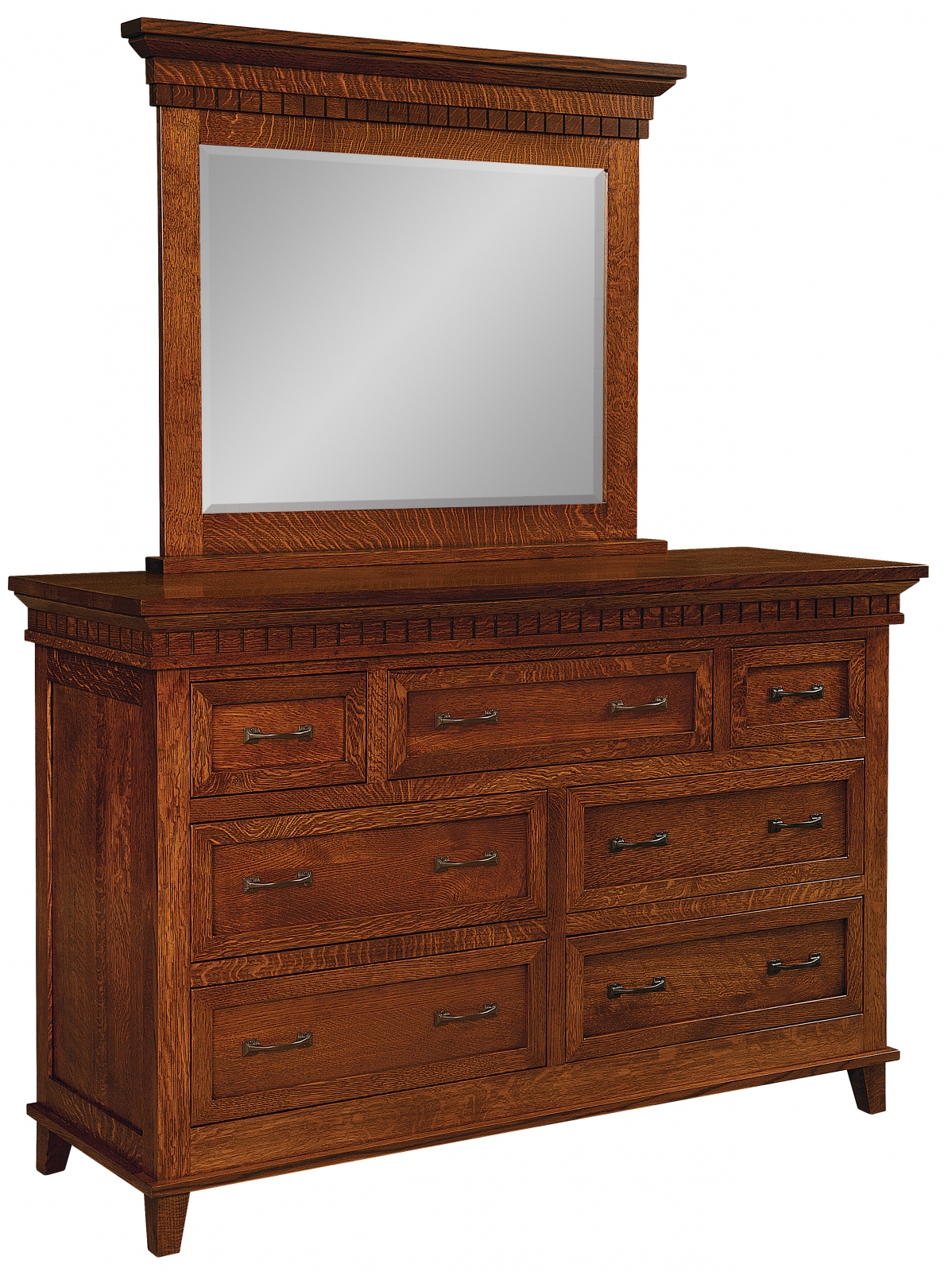 Whitaker Home 7 Drawer Dresser With Mirror Everything Amish